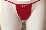 Costume perizoma, rosso, taglia S-M con laccetti