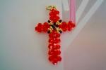 Croce con Swanroski e perle