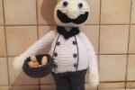 Cuoco-pasticcere, lana, fatto a mano all'uncinetto