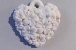 Cuore con fiori forato - Gessetti Profumati