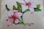 Cuscini d'arredo dipinti a mano con fiori