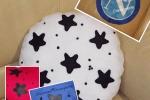 Cuscini Pandistelle con i colori delle squadre handmade
