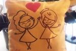 Cuscini personalizzabili dipinti a mano