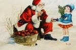Cuscino con Babbo Natale e la sua dolce amica