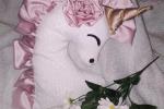 Cuscino unicorno morbido e tenero per bimbe romantiche