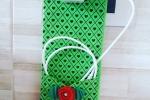 Custodia cavi cellulare con taschino sul davanti