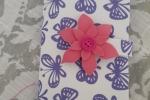 Custodia per cellulare in gomma crepla con fiore