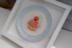 Decorazione da parete in porcellana, cupcake