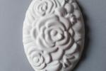 Decorazione floreale ovale - Gessetti profumati