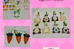 Decorazioni di Pasqua carote, coniglietti per albero di Pasqua