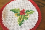 Decorazione natalizia punto croce