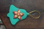 Decorazioni natalizie in gomma crepla, campanella e foglia