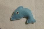 Delfino in pannolenci, delfino portachiavi, bomboniera