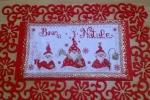 Dietroporta natalizio con simpatici gnometti