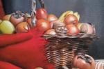 Dipinto olio su tela dal vero. Vaso di Frutta .