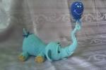 Elefantino con palloncino amigurumi