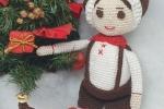 Elfi maschietto Amigurumi Natale 2020 con arti mobili