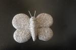 Farfalla in pasta modellabile effetto finto granito