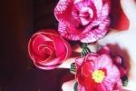 Fermacapelli ornati con fiori o farfalle in gomma fommy