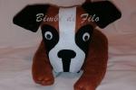Fermaporta cane boxer fatto a mano, mis. h 15 L 26