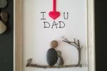 "Quadretto ""I ❤ u Dad"" festa del papà"