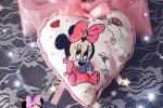 Fiocco nascita dipinto a mano Minnie Disney