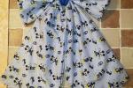 Fiocco nascita grande, Mickey mouse blu