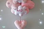 Fiocco nascita con cuore rosa