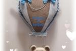 Fiocco di nascita mongolfiera