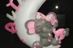 Fiocco nascita con elefanti da personalizzare