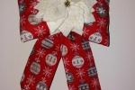 Fiocco fuoriporta in tessuto natalizio con stella di natale