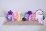 Fiocco nascita Banner Nome personalizzabile con Unicorno