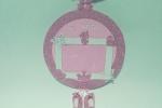 Fiocco nascita bimba colore rosa e bianco