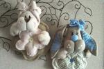 Fiocco nascita bimbo bimba orsetto e coniglietto