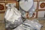 Fiocco nascita con tela aida ricamabile a puntocroce e porta pannolini abbinato