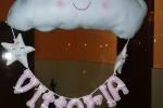 Fiocco nascita, nuvoletta con nome