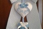 Fiocco nascita pannolenci azzurro