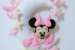 Fiocco nascita personalizzabile handmade luna con Minnie