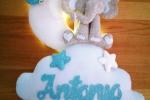 Fiocco Nascita Personalizzabile con elefante e luci LED