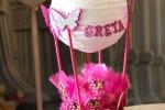 Fiocco nascita/porta confetti mongolfiera