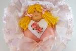 Fiocco nascita con angioletto rosa
