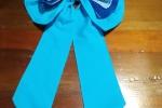 Fiocco nascita realizzato in cotone e uncinetto azzurro