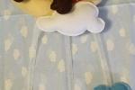 Fiocco nascita orsetto sulla luna,in pannolenci