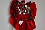 Fiocco natalizio fuoriporta in velluto rosso