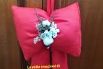 Fiocco rosso natalizio handmade