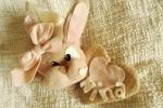 Fiocconascita coniglio e cuore decorazione in pile