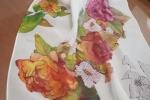 Foulard in seta dipinto a mano