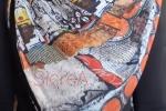 Foulard sciarpone in caldissimo pile e con chiusure click clack