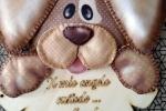 Fuori porta cane con targhetta in legno personalizzabile