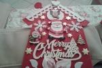 Fuoriporta natalizi feltro rosso e panna